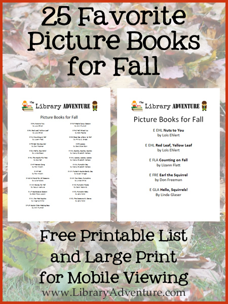25 Favorite Picture Books for Fall with Free Printable List