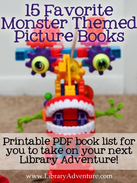 15 Favorite Monster Themed Picture Books from The Library Adventure