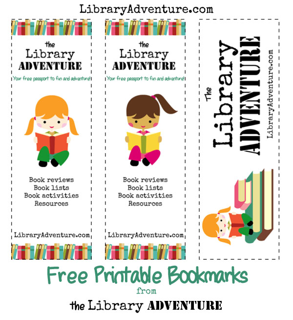 Free Printable The Library Adventure Bookmarks