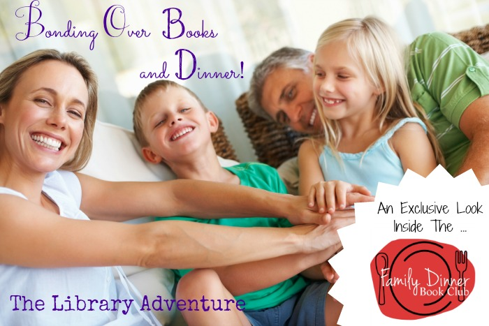 Family Dinner Book Club - a fun new initiative, read more at LibraryAdventure.com
