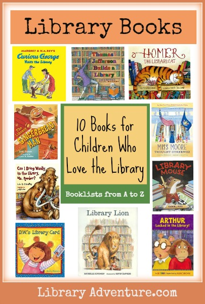 10 Books for Children Who Love the Library from LibraryAdventure.com