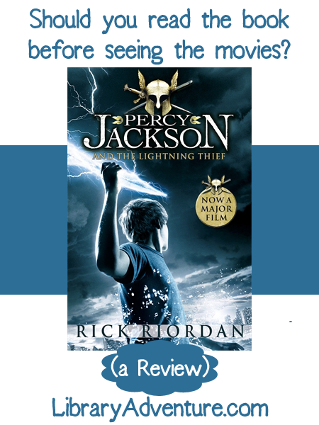 Percy Jackson and the Lightning Thief (a book review) from LibraryAdventure.com