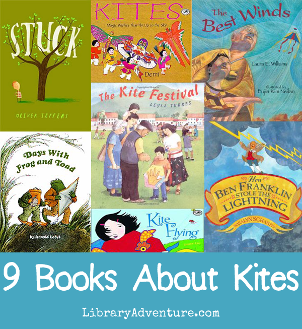 9 Books About Kites from LibraryAdventure.com