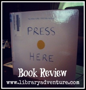 Press Here review on LibraryAdventure.com