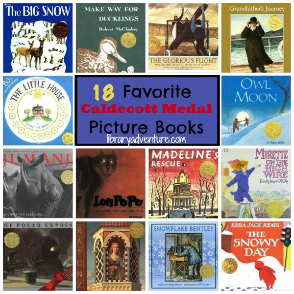 18 Favorite Caldecott Winning Picture Books | libraryadventure.com