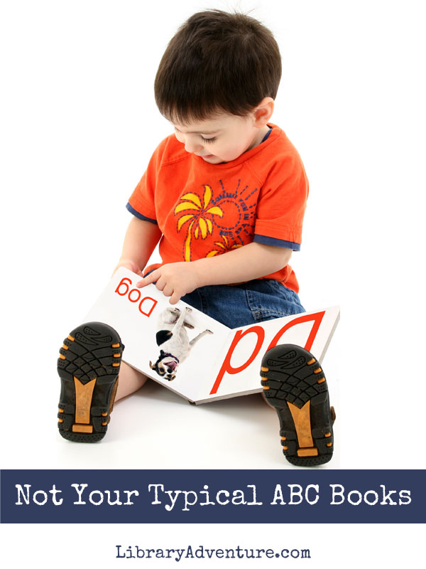 Not Your Typical ABC Books - a fun book list from The Library Adventure